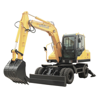 8ton Wheel Excavator with Dozer